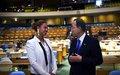 Beyoncé tourne un clip dans la salle de l'Assemblée générale de l'ONU