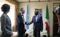 The PBC chair to Burundi, Paul Seger, met Burundi Second Vice-President, Gervais Rufyikiri.